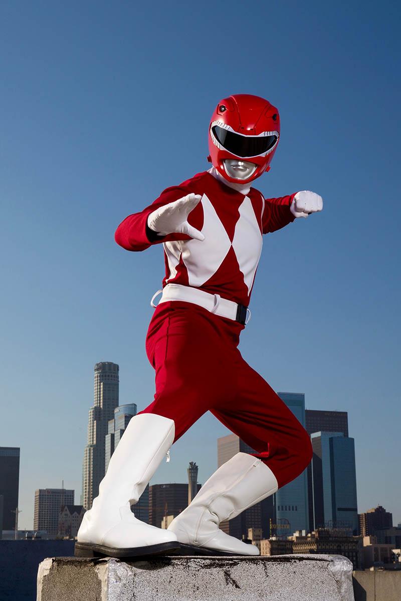 Superhero power ranger party character for kids in nashville